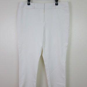 Ann Taylor Loft White Julie Ankle Pants 16T